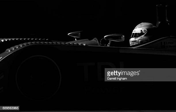 Emanuele Pirro drives the Audi Sport North America Audi R10 TDI during the American Le Mans Series Detroit Sports Car Challenge on September1 2007 at...