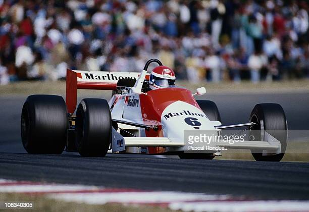 Emanuele Pirro drives the Marlboro Onyx Racing March 86B Cosworth during the FIA International F3000 Championship race on 28th June 1986 at the...