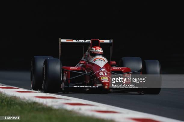 Emanuele Pirro drives the Scuderia Italia SpA Dallara BMSF190 Ford Cosworth DFR 35 V8 during the Coca Cola Italian Grand Prix on 9th September 1990...