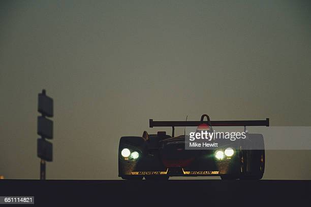 Emanuele Pirro of Italy drives the Audi Sport Team Joest Audi R8 Audi V8 during the ACO European Le Mans Series 24 Hours of Le Mans on 17 June 2000...