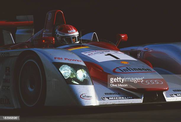 Emanuele Pirro of Italy drives the Audi Sport Team Joest Audi R8 during the FIA World Sportscar Championship 24 Hours of Le Mans race on 15th June...