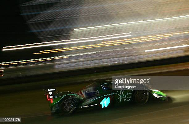 Emanuele Pirro of Italy drives the Drayson Racing Lola Judd during the 78th running of the Le Mans 24 hours race at the Circuits des 24 Heures du...
