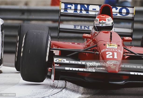 Emanuele Pirro of Italy drives the Scuderia Italia BMS Dallara 191 Judd V10 during practice for the Grand Prix of Monaco on 11th May 1991 on the...