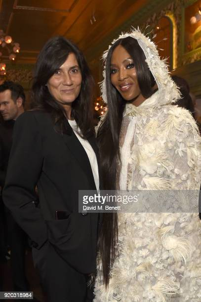 Emanuelle Alt and Naomi Campbell attend as Tiffany Co partners with British Vogue Edward Enninful Steve McQueen Kate Moss and Naomi Campbell to...