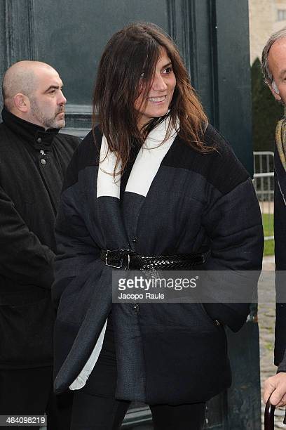 Emanuelle Alt attends the Christian Dior show as part of Paris Fashion Week Haute Couture Spring/Summer 2014> on January 20 2014 in Paris France
