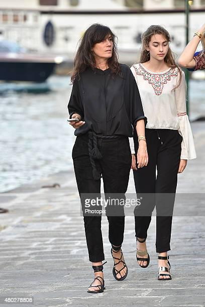 Emanuelle Alt is seen on July 10 2015 in Portofino