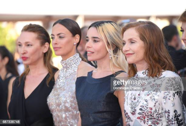 Emanuelle Bercot Berenice Bejo Elodie Bouchez and Isabelle Huppert attend the 70th Anniversary screening during the 70th annual Cannes Film Festival...