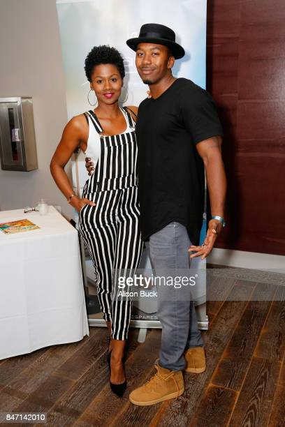 Emayatzy Corineald and guest attend Kari Feinstein's Style Lounge presented by Ocean Spray at the Andaz Hotel on September 14 2017 in Los Angeles...