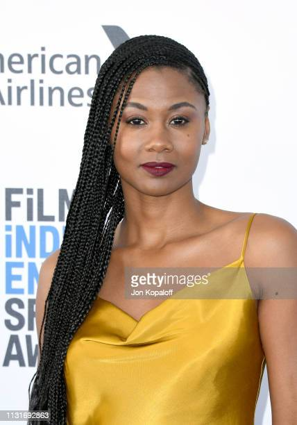 Emayatzy Corinealdi attends the 2019 Film Independent Spirit Awards on February 23 2019 in Santa Monica California