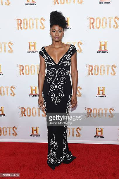 Emayatzy Corinealdi attends the Roots night one screening at Alice Tully Hall Lincoln Center on May 23 2016 in New York City