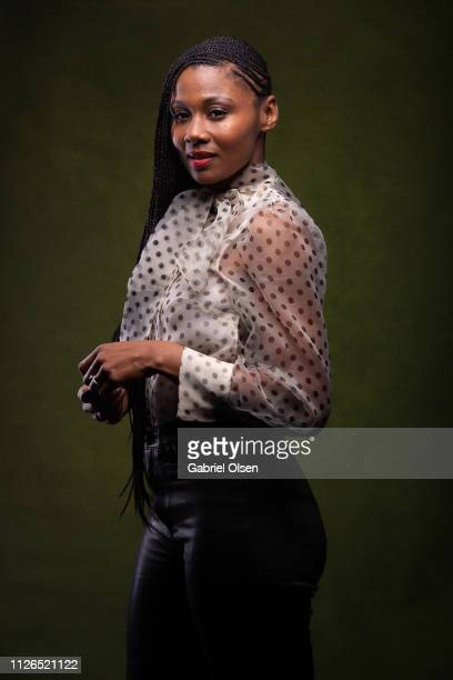 Emayatzy Corinealdi poses for a portrait at Morgan Stanley presents Alfre Woodard's 10th Annual Sistahs' Soiree on February 20 2019 in Los Angeles...