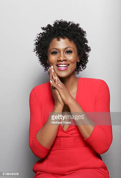 Emayatzy Corinealdia is photographed at the 2016 Black Women in Hollywood Luncheon for Essencecom on February 25 2016 in Los Angeles California