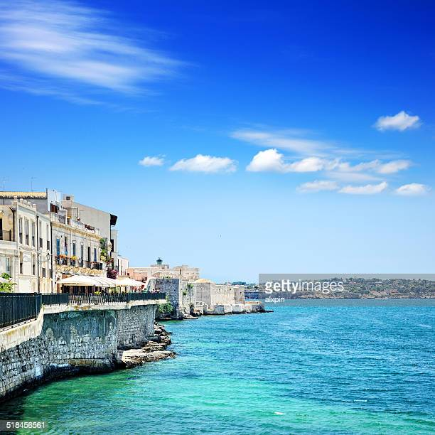 Embankment in Syracuse, Sicily