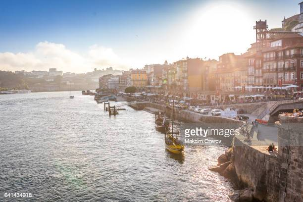 Embankment of Douro River in Porto, Portugal