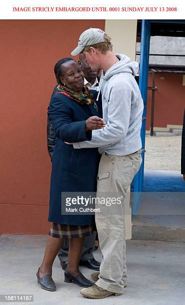 Embargoed To 0001 Sunday July 13 Prince Harry Visits To The Lesotho Child Counselling Unit In Maseru, Lesotho.