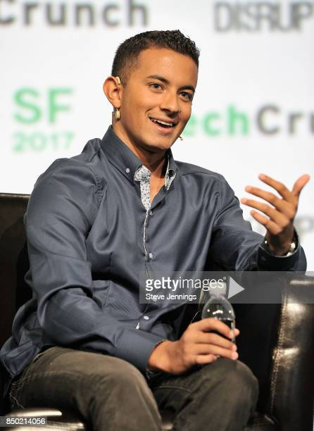 Embark CEO Alex Rodrigues speaks onstage during TechCrunch Disrupt SF 2017 at Pier 48 on September 20 2017 in San Francisco California