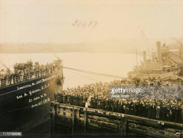 Embarkation of 26th Battalion and A column CEF St John New Brunswick June 13 1915 No 10 13 June 1915
