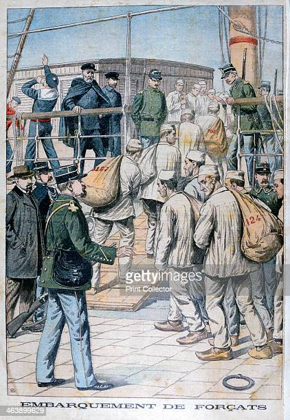 Embarkation of convicts for French Guiana 1904 France began transporting convicts to its colony of French Guiana in 1852 Amongst the more famous...