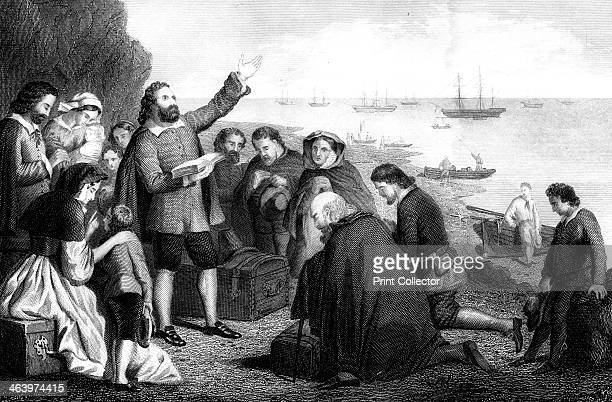 Embarkation of the Pilgrim Fathers 1620 The Pilgrim Fathers members of the English Separatist Church sect of Puritans fled religious persecution in...