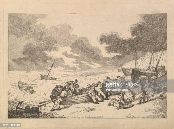 Embarking from Brighthelmstone to Diepp[e] 1787 Artist Thomas Rowlandson