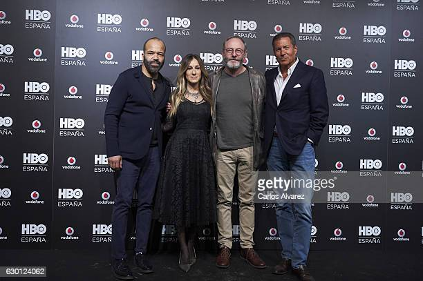Embassador James Costos, actress Sarah Jessica Parker, Michael Smith and Chairman and CEO HBO Richard Plepler attend HBO Spain presentation party at...