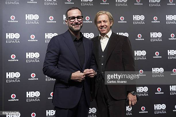 Embassador James Costos and Michael Smith attend HBO Spain presentation party at Florida Retiro Club on December 16, 2016 in Madrid, Spain.