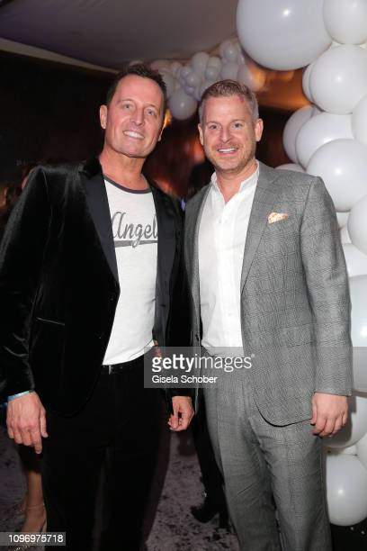 Embassador of America Richard Grenell and his husband Matt Lashey during the PLACE TO B Berlinale party of BILD at Borchardt Restaurant on February 9...