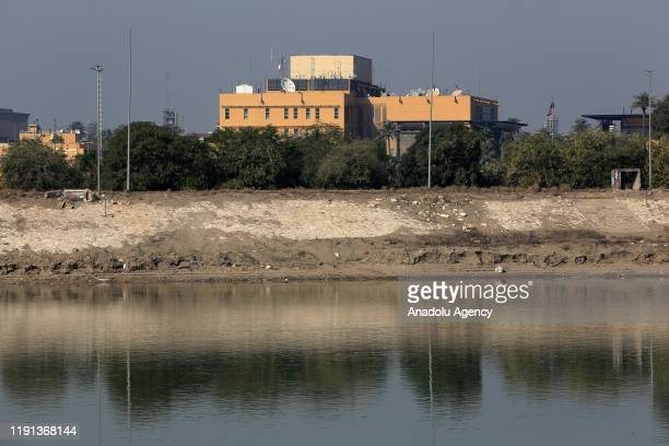 S Embassy building in Baghdad is seen after US urged American citizens to leave Iraq immediately in the aftermath of an airstrike that killed a top...