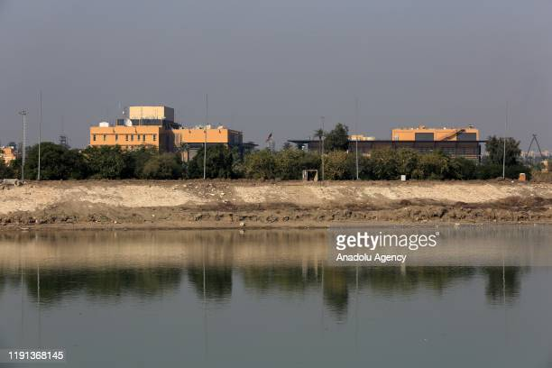 Embassy building in Baghdad is seen after U.S. Urged American citizens to leave Iraq immediately in the aftermath of an airstrike that killed a top...