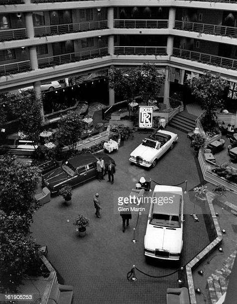 Embassy Suites Hotel; Rolls Royce car show;
