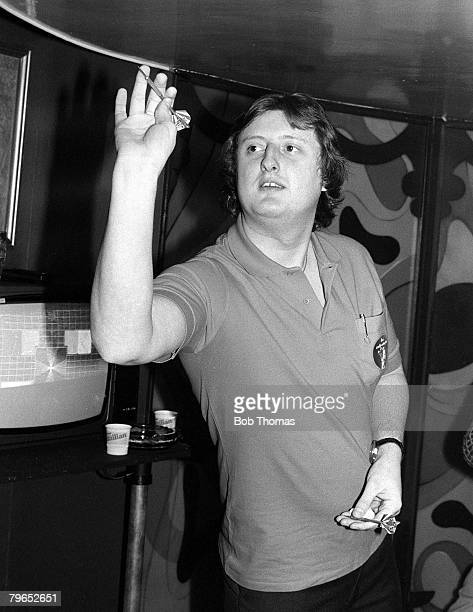 Embassy World Darts Championships England 9th January 1982 Eric Bristow of England about to throw a dart
