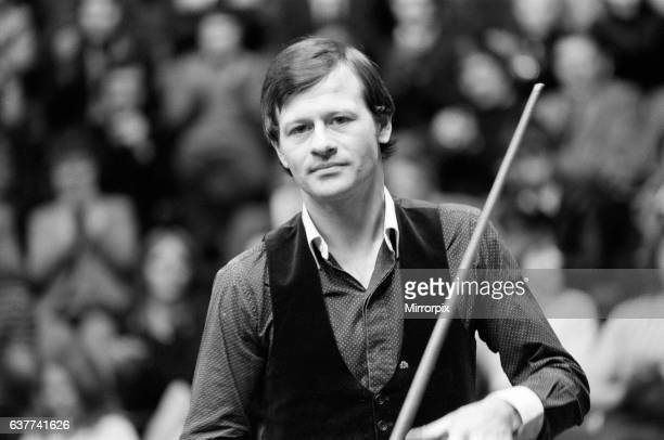 Embassy World Professional Snooker Championship at The Crucible Sheffield The look of a loser Alex 'Hurricane' Higgins 13th April 1981