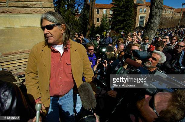 BOULDER COLORADOMARCH 3 2005 Embattled University of Colorado Ethnic Studies professor Ward Churchill <cq> enters a building to teach a class after...