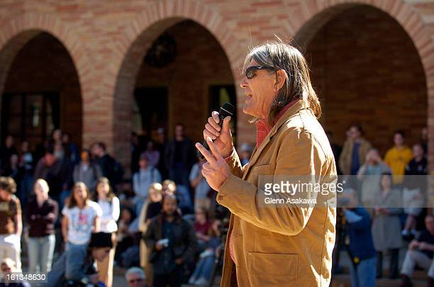 BOULDER COLORADOMARCH 3 2005 Embattled University of Colorado Ethnic Studies professor Ward Churchill <cq> talks for about 10 minutes during a pro...