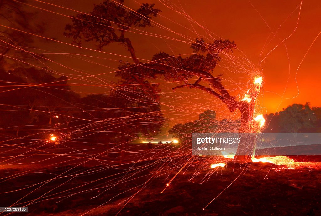 Hennessey Fire Burns In Napa County : News Photo