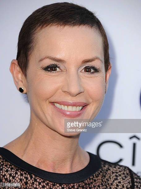 Embeth Davidtz arrives at the 'Paranoia' Los Angeles Premiere at DGA Theater on August 8 2013 in Los Angeles California
