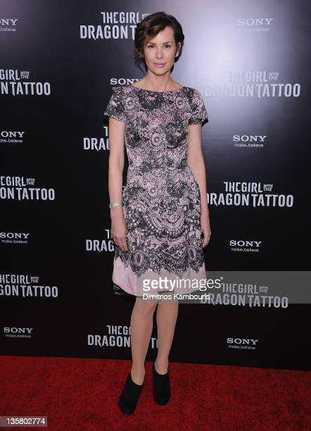 Embeth Davidtz attends the The Girl With the Dragon Tattoo New York premiere at Ziegfeld Theater on December 14 2011 in New York City