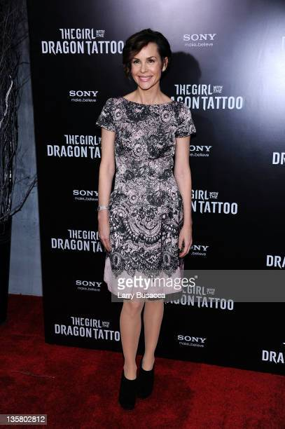 Embeth Davidtz attends the 'The Girl With the Dragon Tattoo' New York premiere at Ziegfeld Theater on December 14 2011 in New York City
