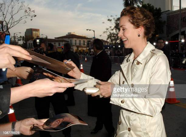 Embeth Davidtz during Fracture Los Angeles Premiere Red Carpet at The Mann Village Theatre in Westwood California United States