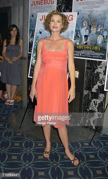 """Embeth Davidtz during """"Junebug"""" New York City Premiere - Arrivals at The Loews 19th Street Theatre in New York, New York, United States."""