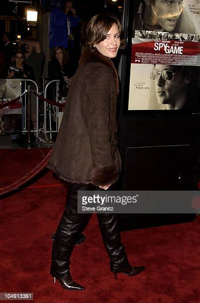 Embeth Davidtz during Spy Game Premiere at Mann National Theatre in Westwood California United States