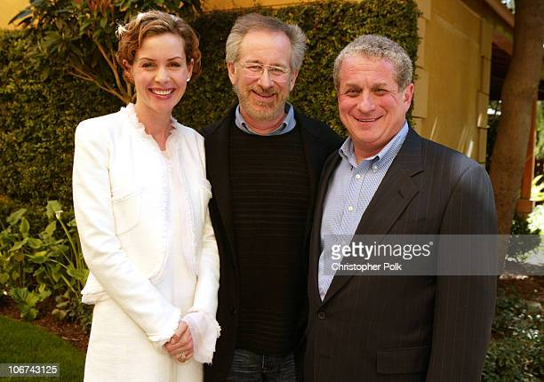 Embeth Davidtz, Steven Spielberg and Douglas Greenberg, President and CEO of SSVHF