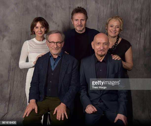 Embeth Davidtz Steven Spielberg Liam Neeson Sir Ben Kingsley and Caroline Goodall attend the Schindler's List 25th Anniversary Cast Reunion 2018...