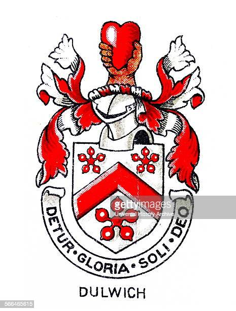 Emblem for Dulwich College, Southeast London, an independent public school for boys. The college was founded in 1619 by Edward Alleyn, a successful...