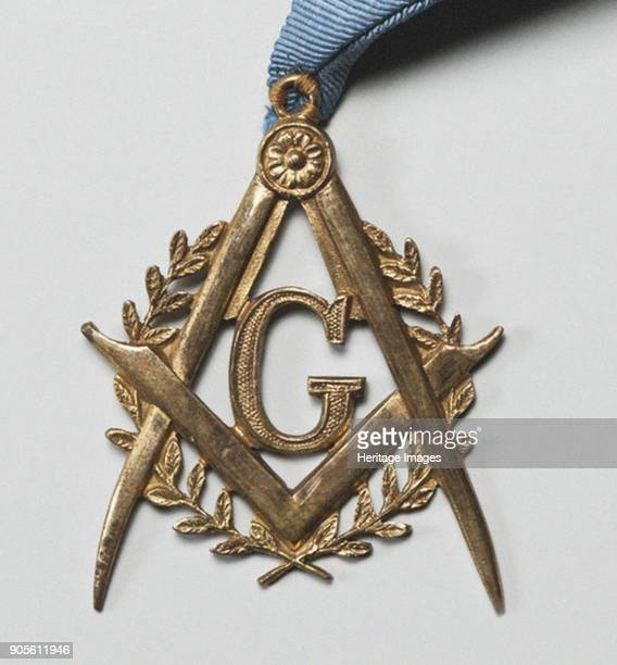 Emblem of the Masonic Lodge Flaming Star Found in the Collection of State Hermitage St Petersburg