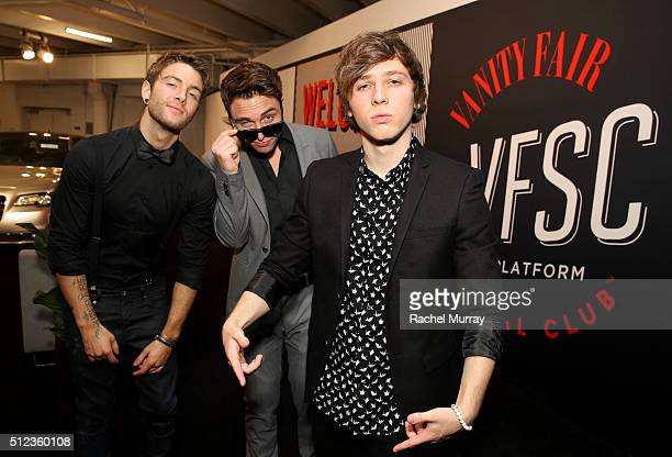 Emblem3 arrives to performe and speak on the 'How Social Is ChangingThe Business of Music' panel during the 2016 Vanity Fair Social Club #VFSC for...