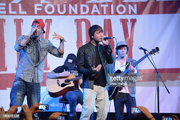 Emblem3 performs on stage at the 'TJ Martell Foundation's 14th Annual Family Day Honoring Paradigm Talent Agency's Marty Diamond and Family' at...