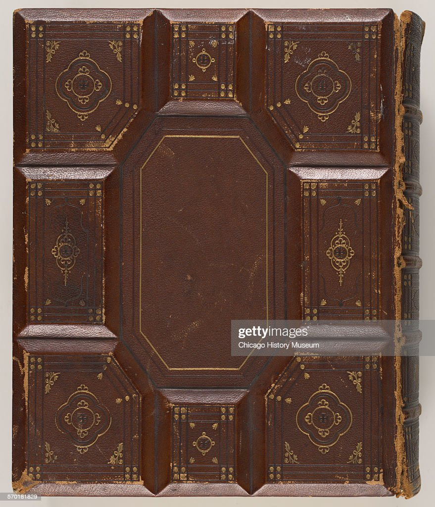 Embossed leather bound bible owned by Nina Spies : News Photo