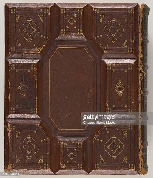 Embossed leather bound bible with goldleaf designs owned by Nina Spies widow of August Spies who was executed in association with the trial following...