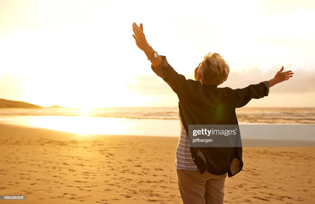 Embrace life with open arms : Stock Photo